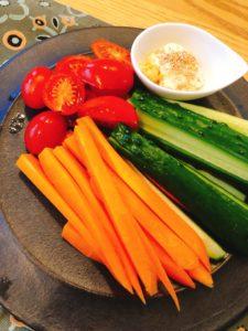 きゅうり、にんじん、ミニトマト